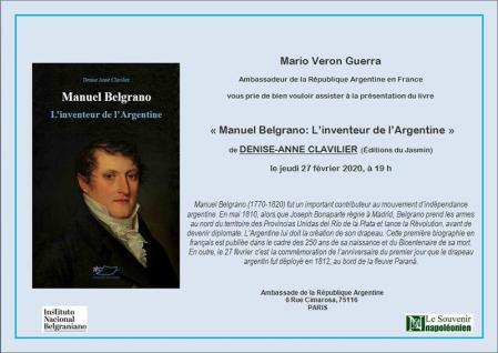 Invitation Amb. Paris Belgrano